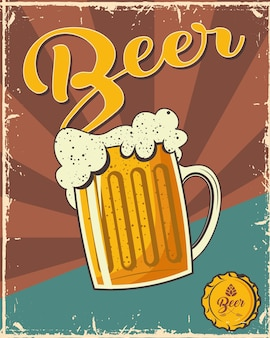 Beer fest poster with jar