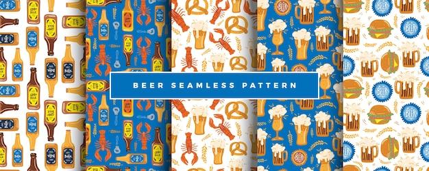 ビール祭シームレスパターンセット