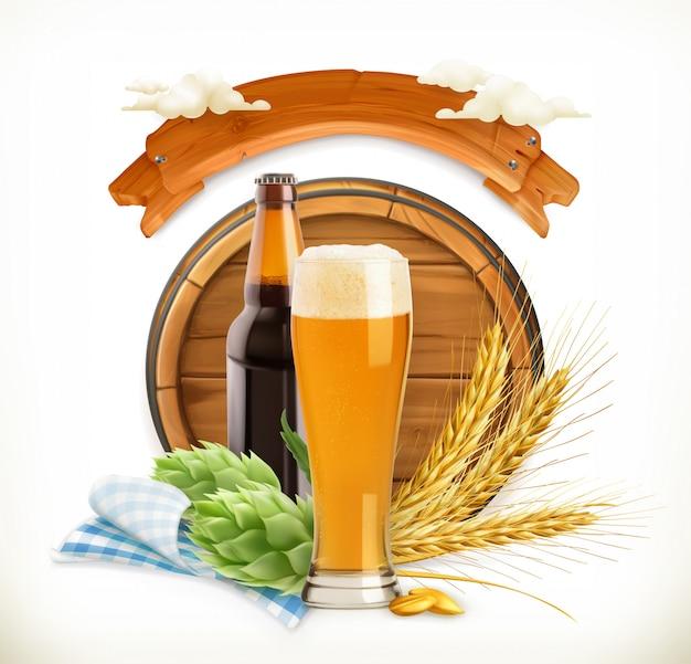 Beer festival, 3d vector illustration for oktoberfest