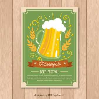 Beer festival poster in vintage style