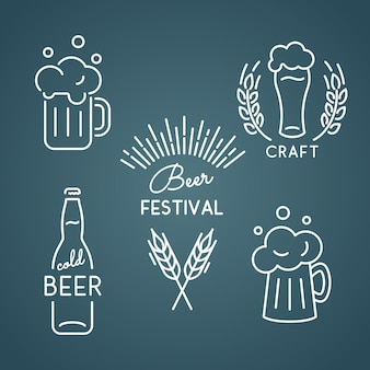 Beer festival. set icons.