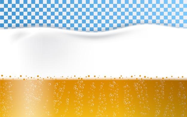 Beer foam bubbles