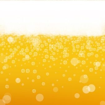Beer foam. craft lager splash. oktoberfest background. orange menu concept. shiny pint of ale with realistic bubbles. cool liquid drink for pub. yellow cup for oktoberfest foam.