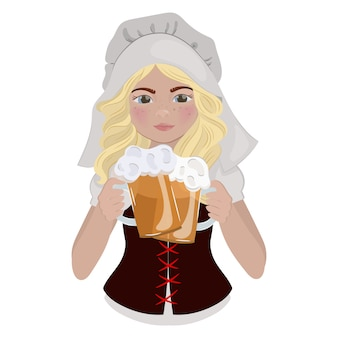 Beer girl saint patrick day cartoon