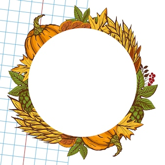 Beer glass among hops leaf and cone on an oktoberfest banner decorated with traditional symbols of a beer festival in europe.