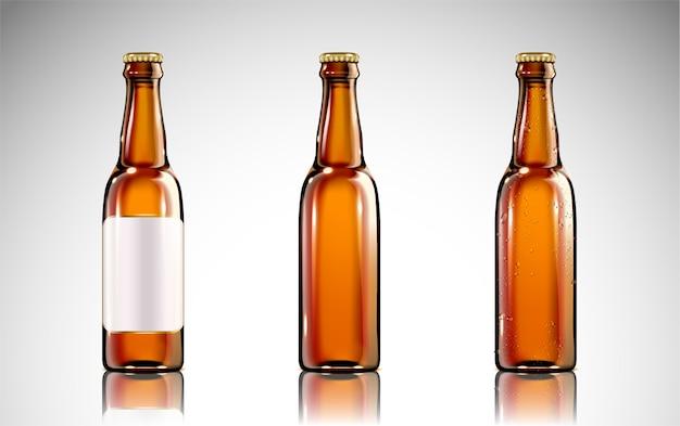 Beer glass bottle