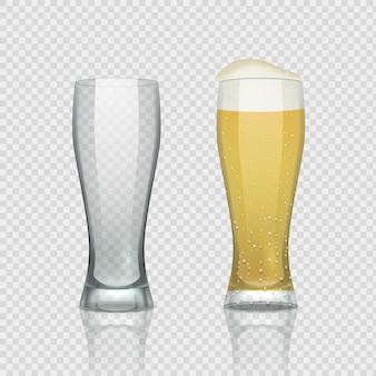 Иллюстрация стеклянных чашек пива