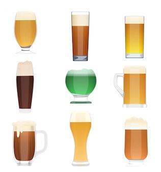 Beer glass cups set