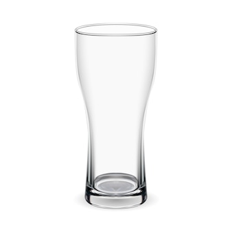 Beer glass. isolated goblet mockup. transparent