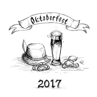 Beer glass sketch mug oktoberfest festival