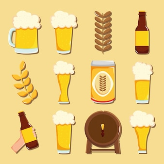 Beer glasses and related icons