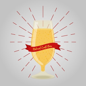 Beer goblet, alcohol drink