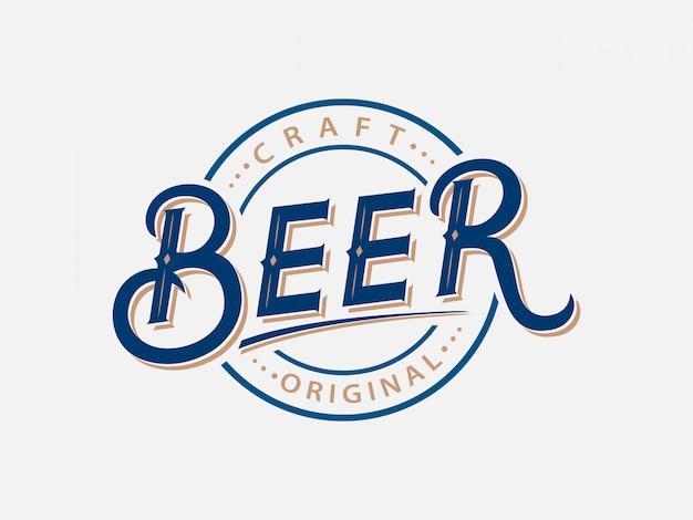 Beer hand written lettering logo