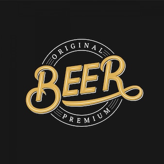 Beer hand written logo