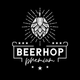 Beer hop classic white logo
