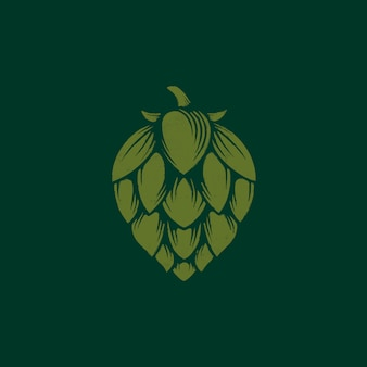 ビールホップのオーガニックロゴデザイン