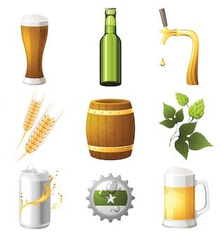 Beer icons Premium Vector