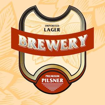 Beer label bold vintage style beverages