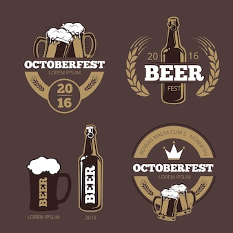 Beer label templates for beer house, brewing company, pub and bar.