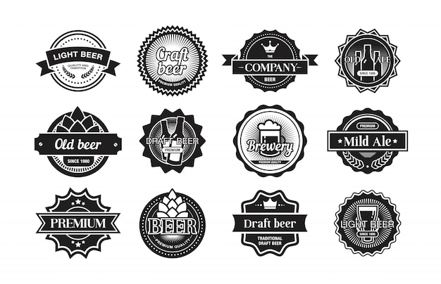 Beer logos set