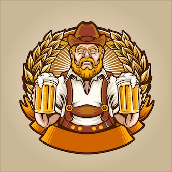 The beer man Premium Vector
