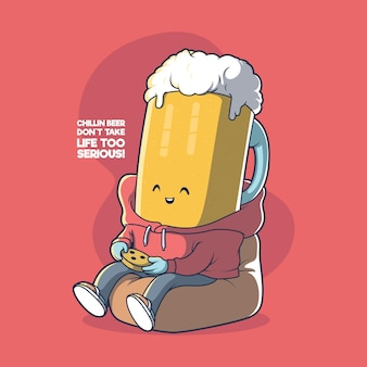 맥주 머그 chillin