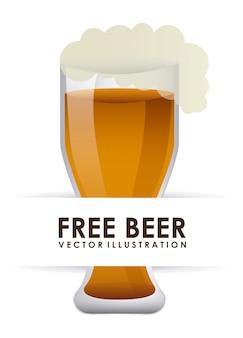 Кружка пива на белом фоне