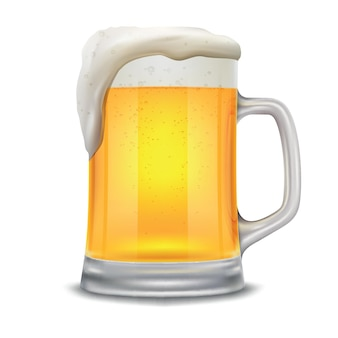 Beer mug vector illustration isolated on white background