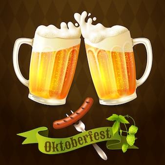 Beer mugs octoberfest