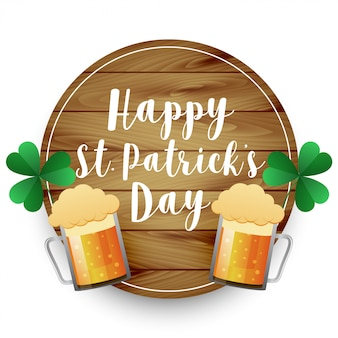 Beer mugs st patricks day background