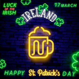 Beer neon sign banner