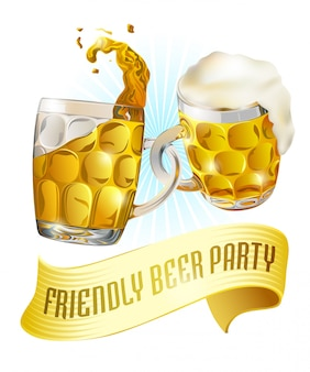 Beer party label