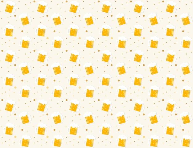Beer pattern background