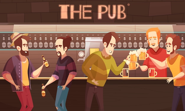 Beer pub illustration