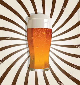 Beer retro background