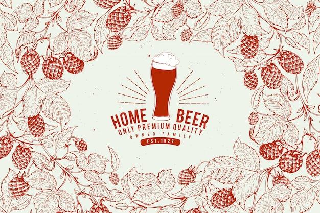 Beer shop design template.