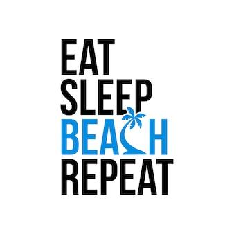 Beer sleep beach repeat icon sign vector