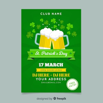 Beer st patrick's day poster template