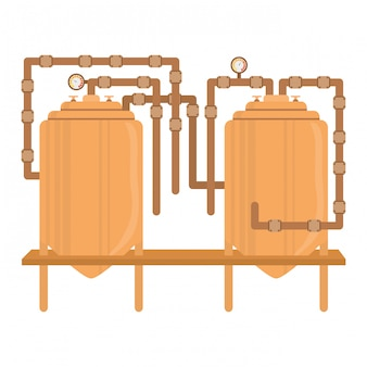 Beer tanks icon image design