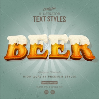 Beer text style