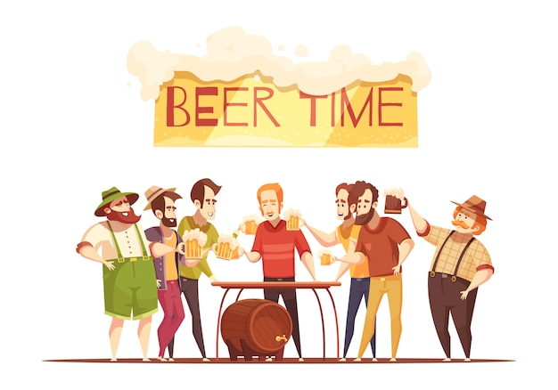 Beer time illustration
