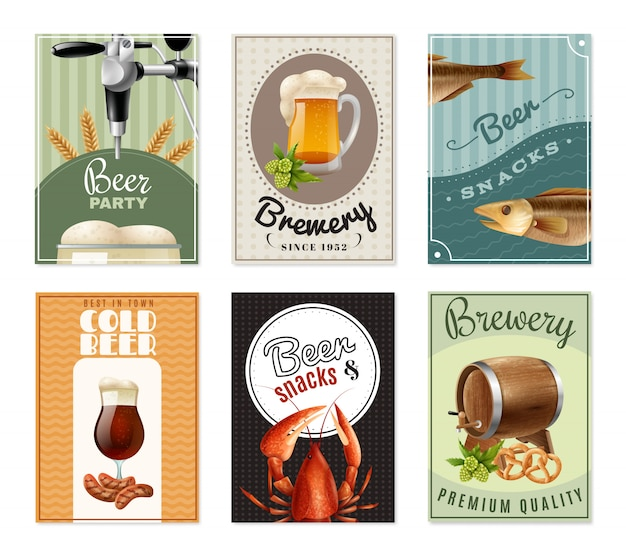 Beer vertical banners set
