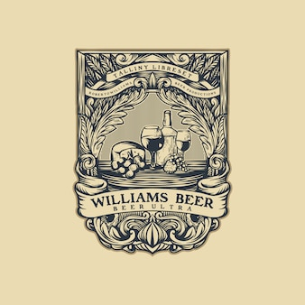 Beer vintage logo vector