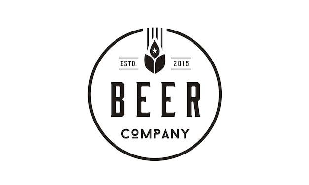 Beer wheat logo design inspiration