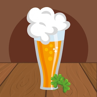 Beer with clover