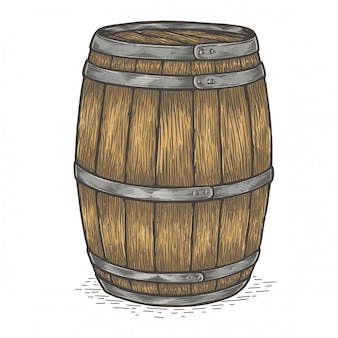 Beer wooden barrel