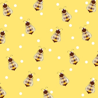 Bees and honey background