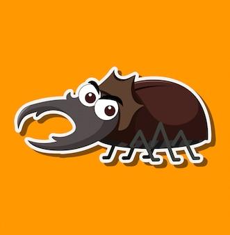 A beetle cartoon character