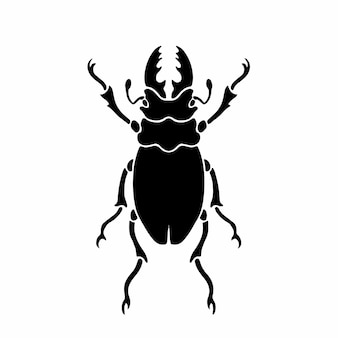 Beetle logo symbol stencil design tattoo vector illustration