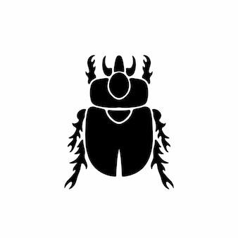 Жук логотип символ трафарет дизайн татуировки векторные иллюстрации